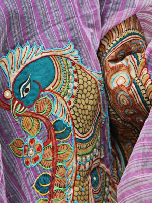 KALAMKARI PEACOCK PURPLE