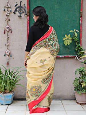 HANDPAINTED MADHUBANI SAREE
