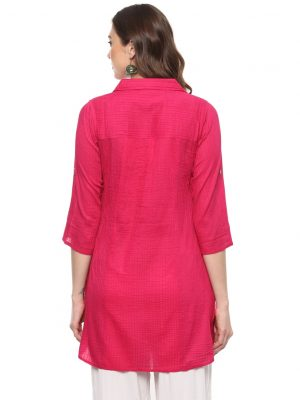 Rani Cotton Collared Regular Fit Kurti