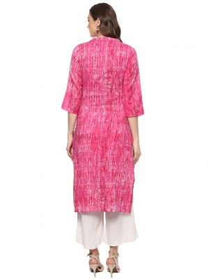 Pink Twill Regular Fit Kurti