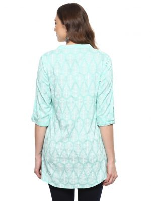 Rama Rayon Standing Collar Regular Fit Kurti
