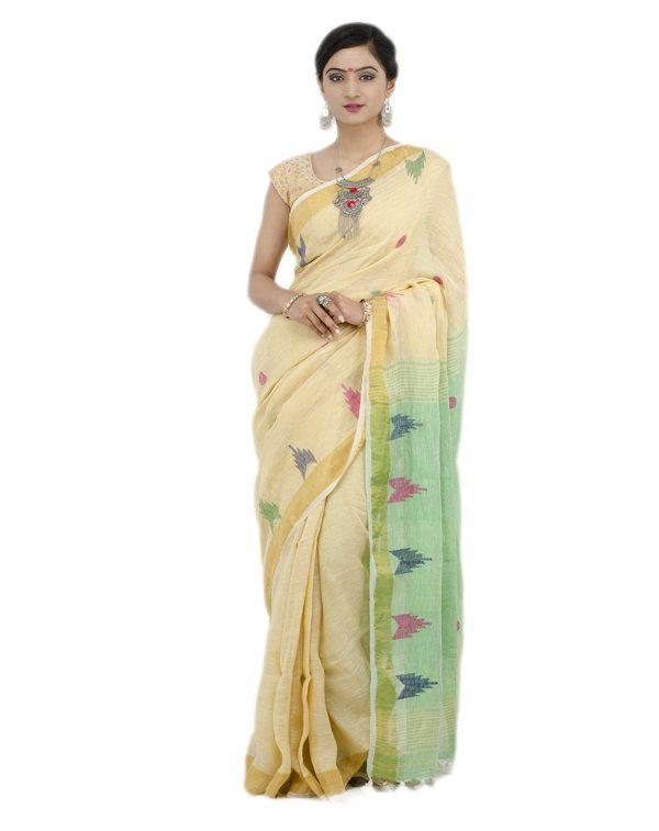 Golden Linen Jamdani