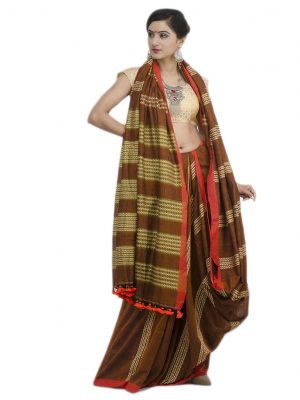 Brown Khadi Cotton