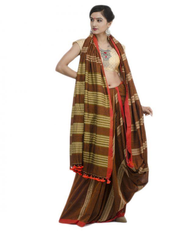 Brown Khadi Cotton