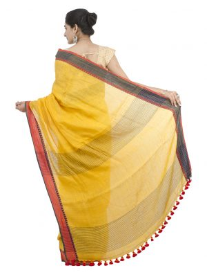 Yellow Linen Jamdani