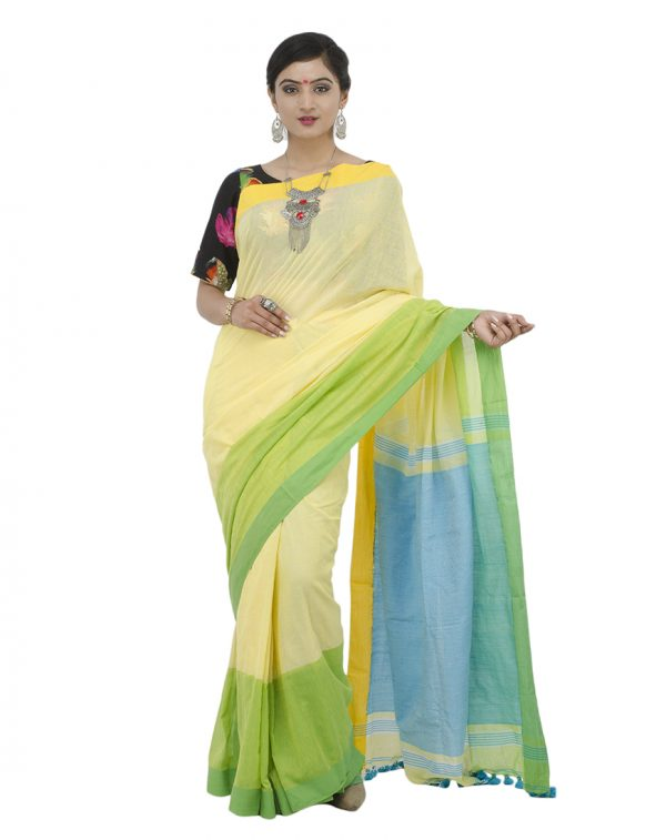 Yellow Khadi Cotton