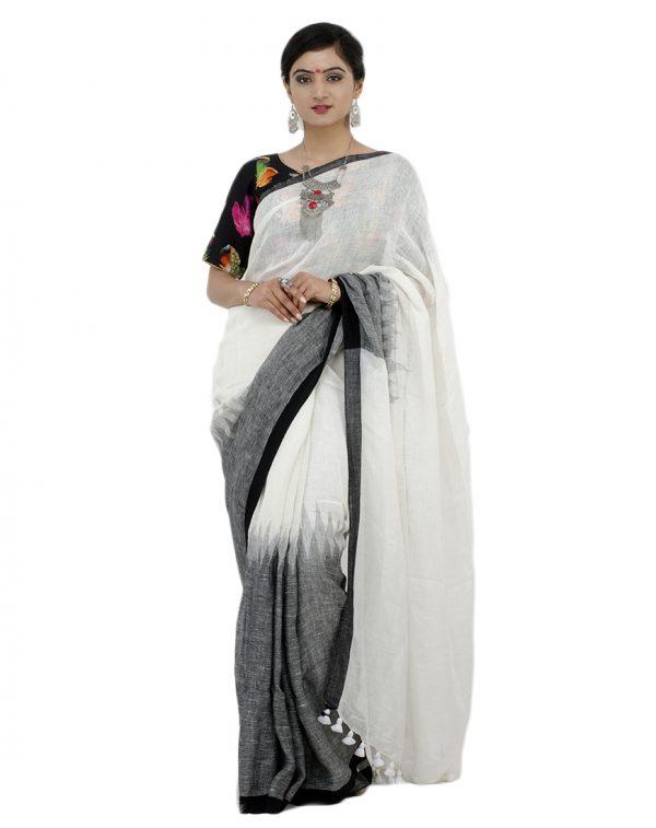 White Linen Jamdani