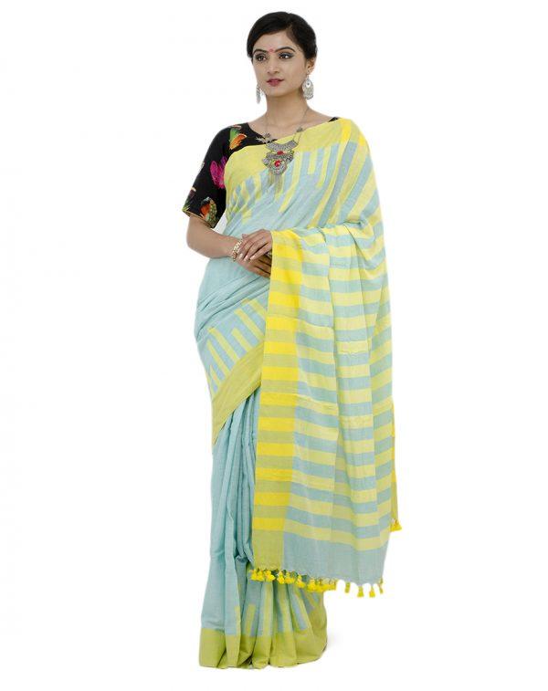 Blue Khadi Cotton