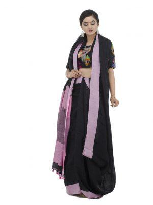 Violet Linen Jamdani